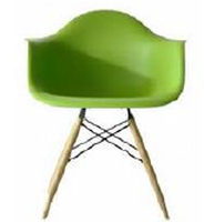 Green Eames Style Chairs