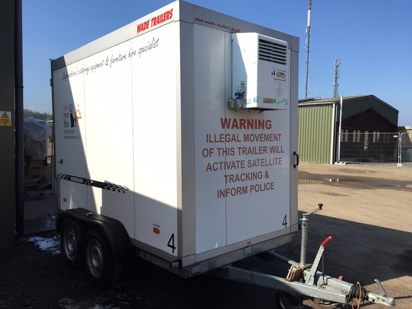 Front of Mobile Refrigerated / Freezer Trailer