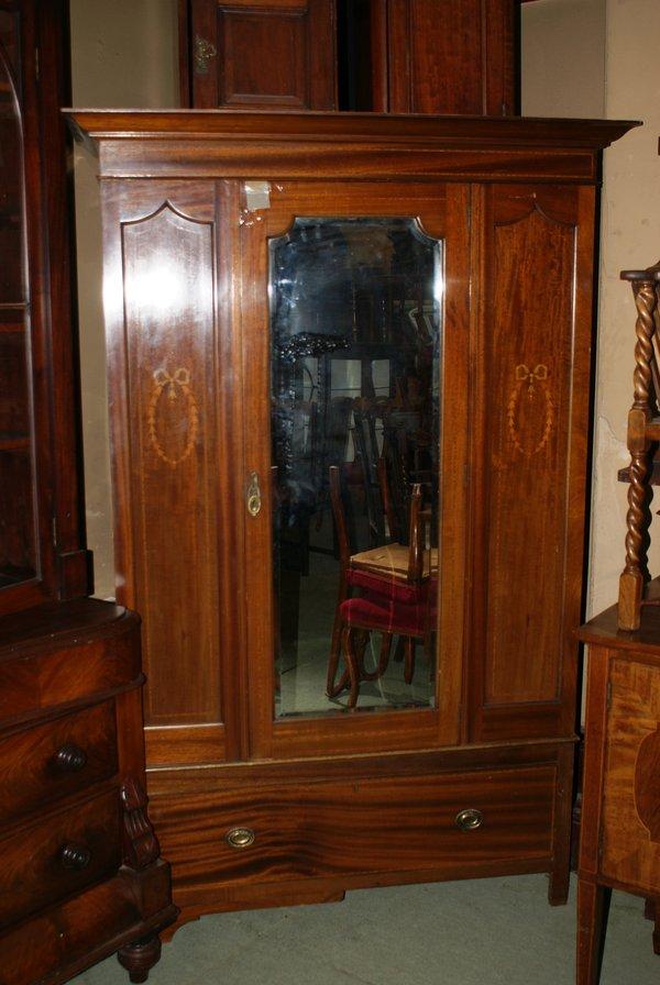 Victorian Mahogany Mirror Fronted Wardrobe