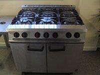 Falcon G2101 6 Burner Oven Range On Castors