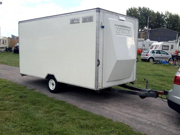 Conway single wheel exhibition trailer