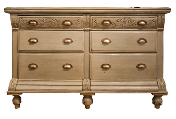 Painted English Edwardian Chest of Drawers
