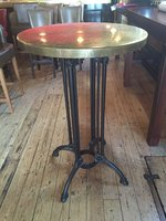Vintage Brass Top Round Table