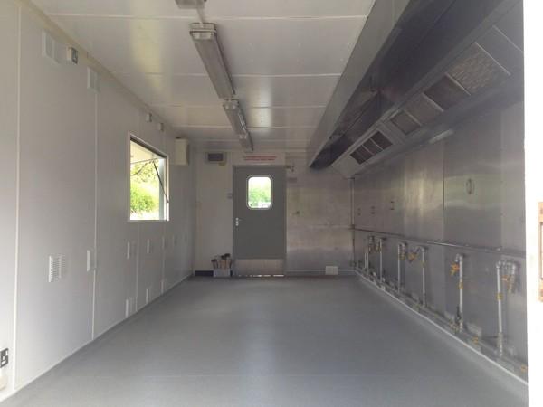 Inside Portable Kitchen