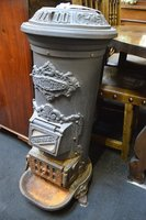 Cast Iron Small Reproduction Victorian Gas Fired Belly Stove