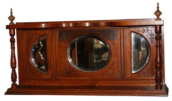 Victorian Walnut Wall Mirror