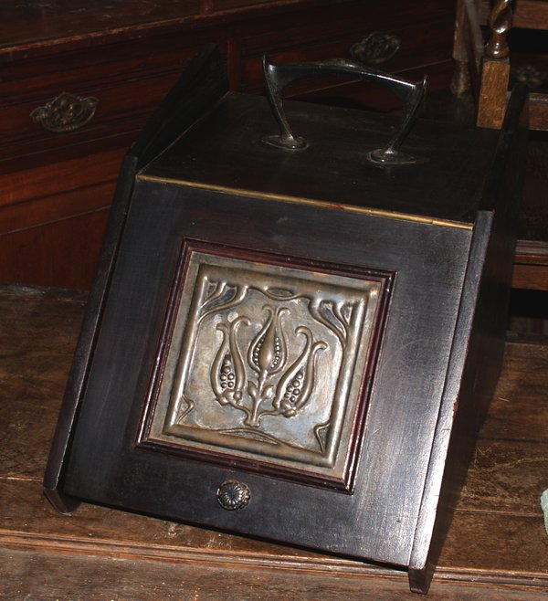Art Nouveau Coal Box with Handle