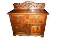 American Carved Oak Chiffonier