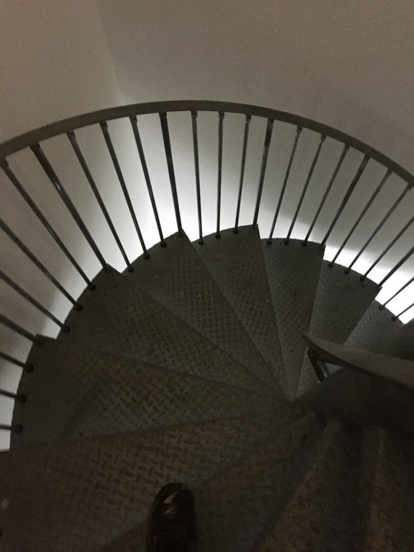 Commercial 5.8 m galvanized spiral staircase