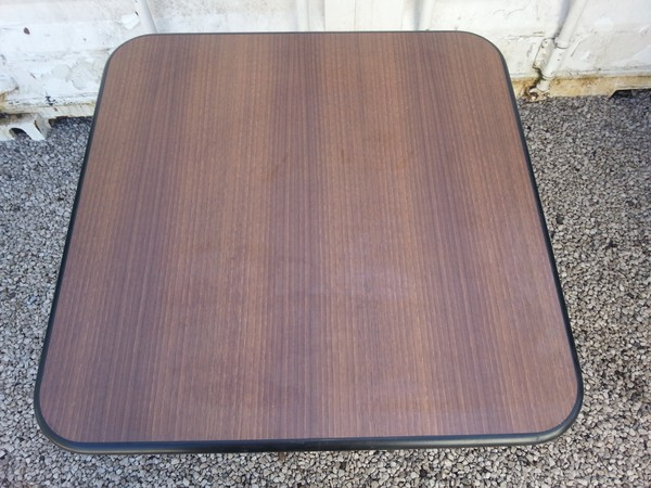 70 x 70cm Table Tops with a medium oak laminate top