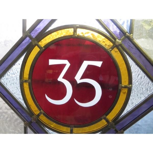 No 35 Edwardian door glass