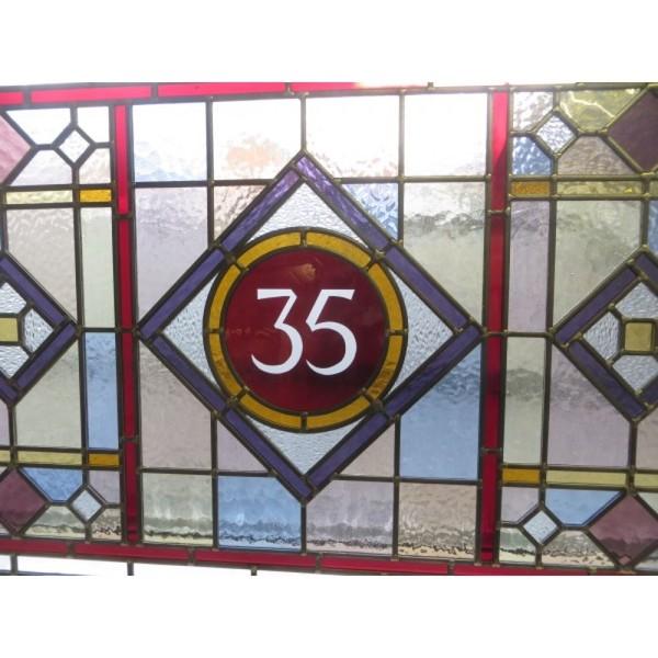 Reclaimed Edwardian door glass