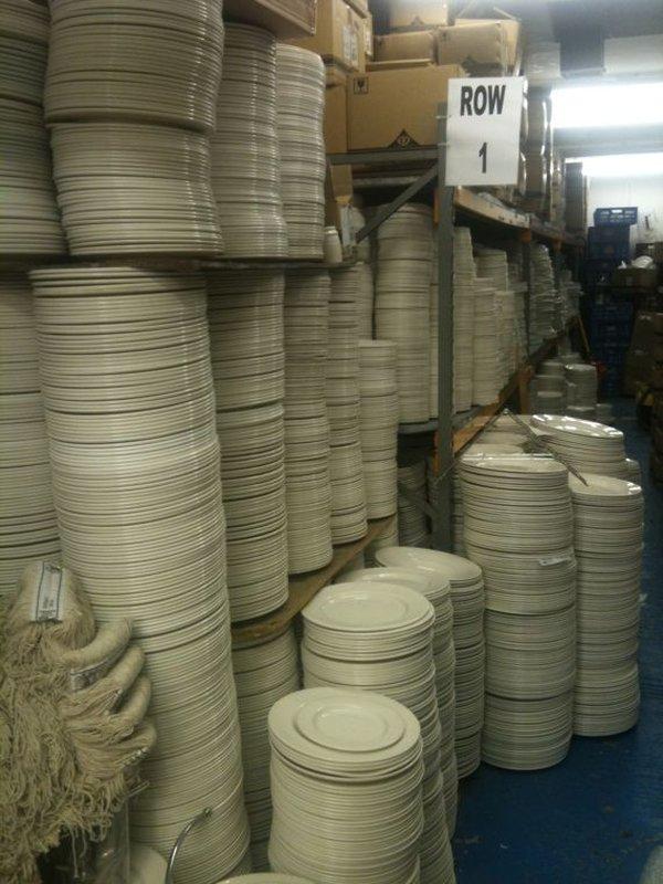 Dudson Classic Plain White Plates
