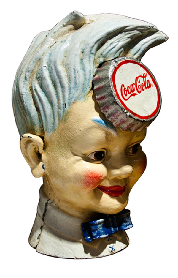 1940's Cast Iron Coca Cola Money Box