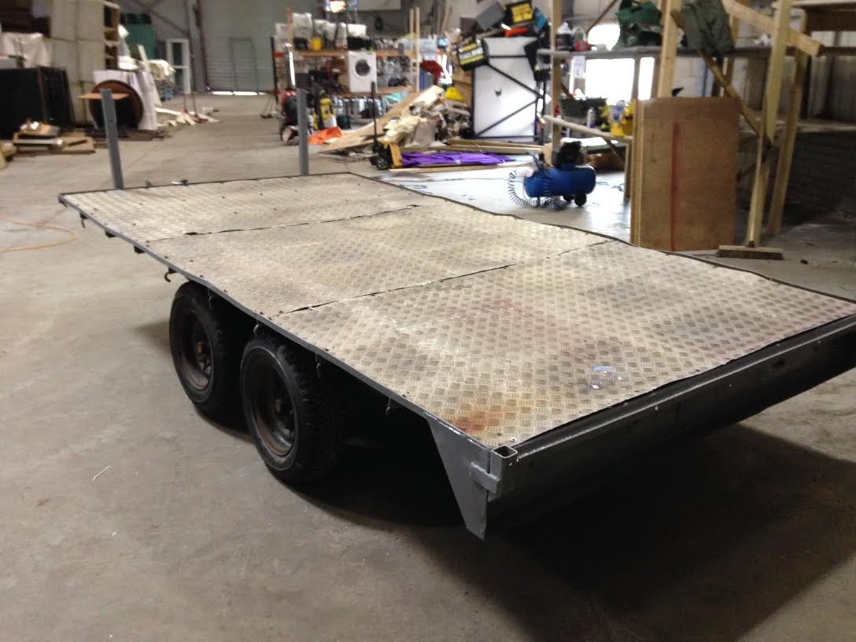 Secondhand Trailers Flat Bed Trailers Heavy Duty Twin