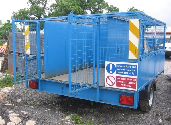 caged trailer single axle