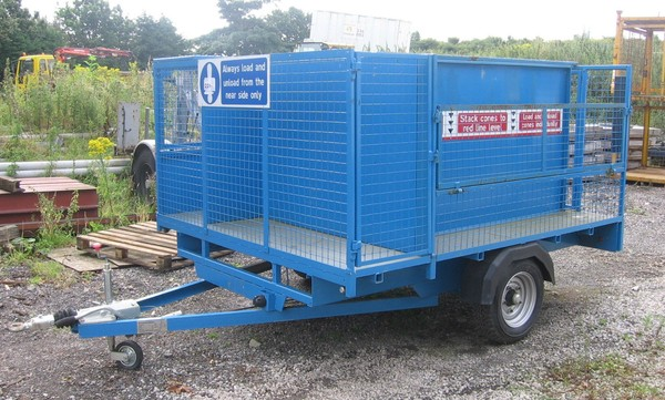 Divided caged trailer with doors