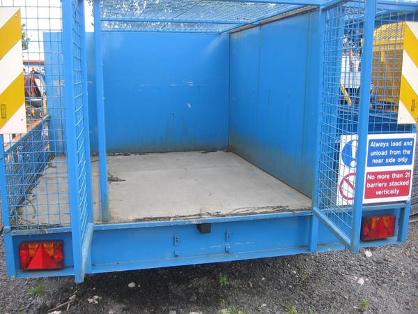 Trailer with security cage