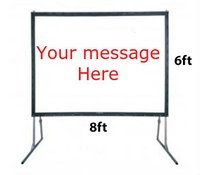 8ft x 6ft Fast Fold Draper Screen