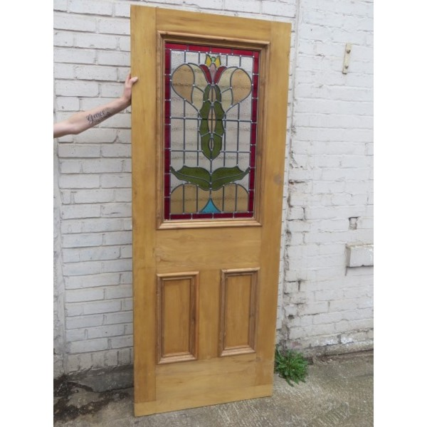 Art Nouveau stained glass panels for sale