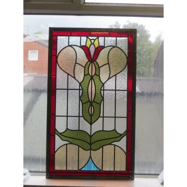 Bespoke Art Nouveau stained glass panel