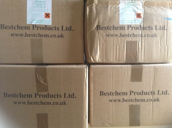 Bestchem Products in boxes
