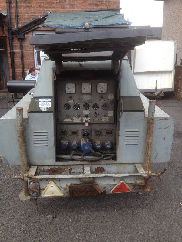 Ex BBC outside broadcast 12 KVA generator for sale