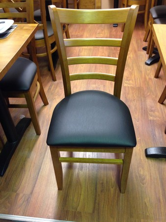Westminster chair with black seat