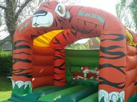 13 x 13 Tiger Bouncy Castle