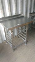 stainless steel dishwasher table in