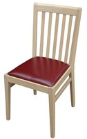 Solid Ashwood Chairs with Faux Leather Cushion in Wine (red)