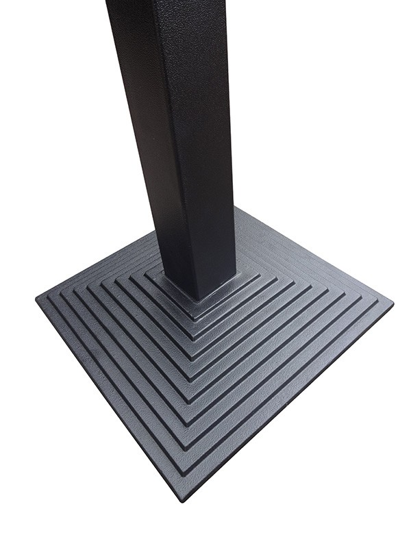 New Step Square Cast Iron Black Table Bas