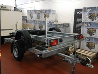 Knott single axle generator trailer