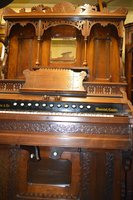 Beautifully Carved Walnut Church Organ