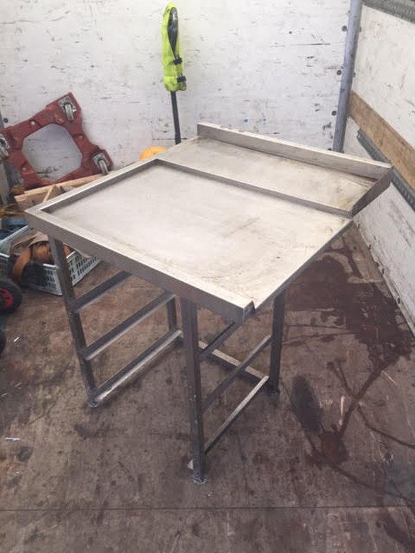 Left Stainless Steel Out Table for Dishwasher