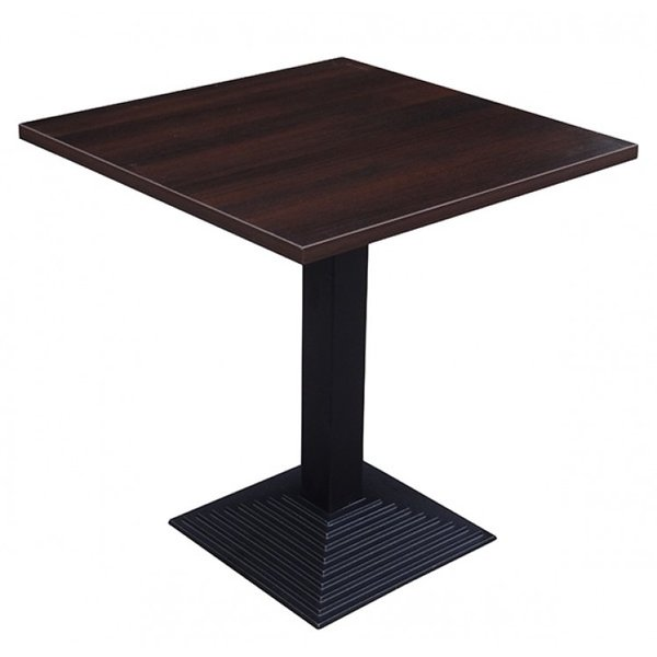 Step Square Cast Iron Complete Table