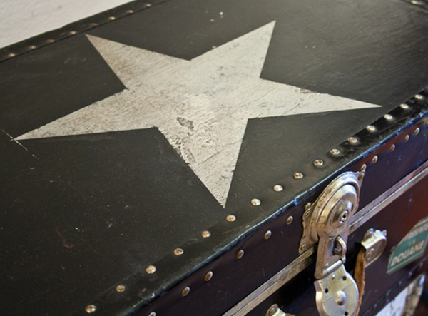 Vintage Trunk with star detail