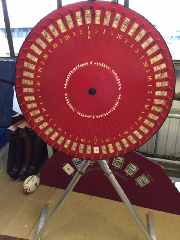 Full Size Money Wheel with Money Wheel Table