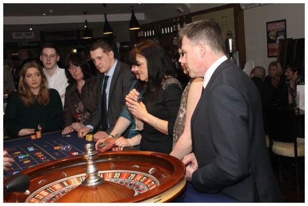 Roulette Table in use