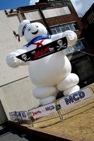 Giant Inflatable Stay Puft Advertising Man from Ghostbusters
