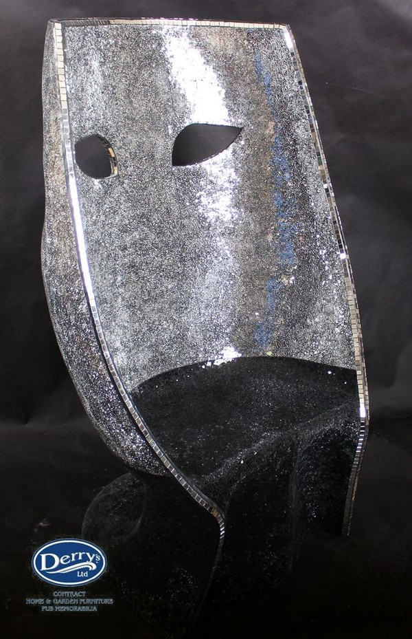 Silver mask glitter chair
