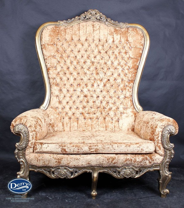 Tall Back Ornate Sofa