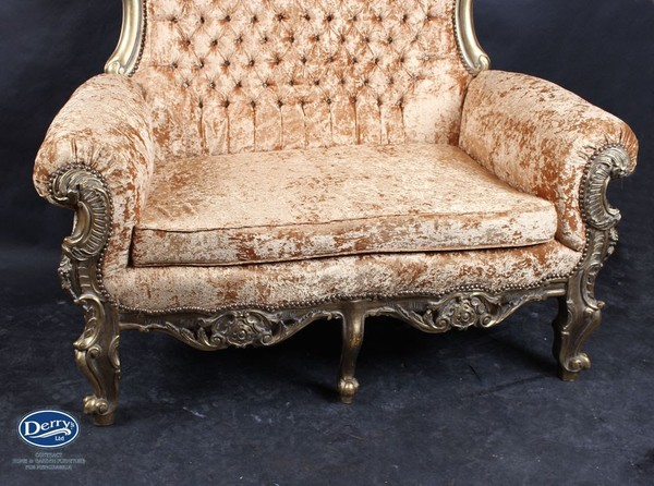 Tall Back Ornate Sofa / Throne