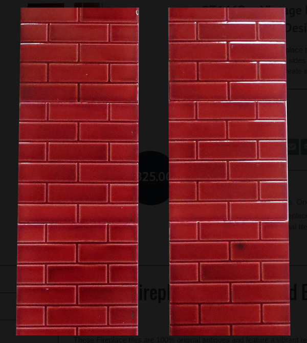 Fireplace Tiles With Red Brick Design