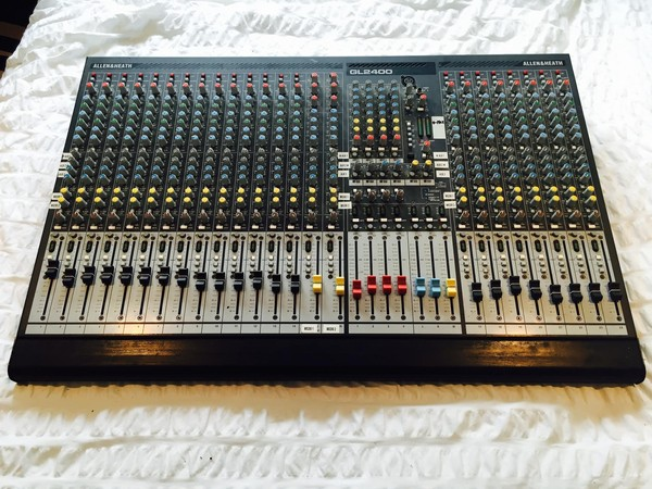 24 channel Mixing desk by Allen and Heath GL2400-24