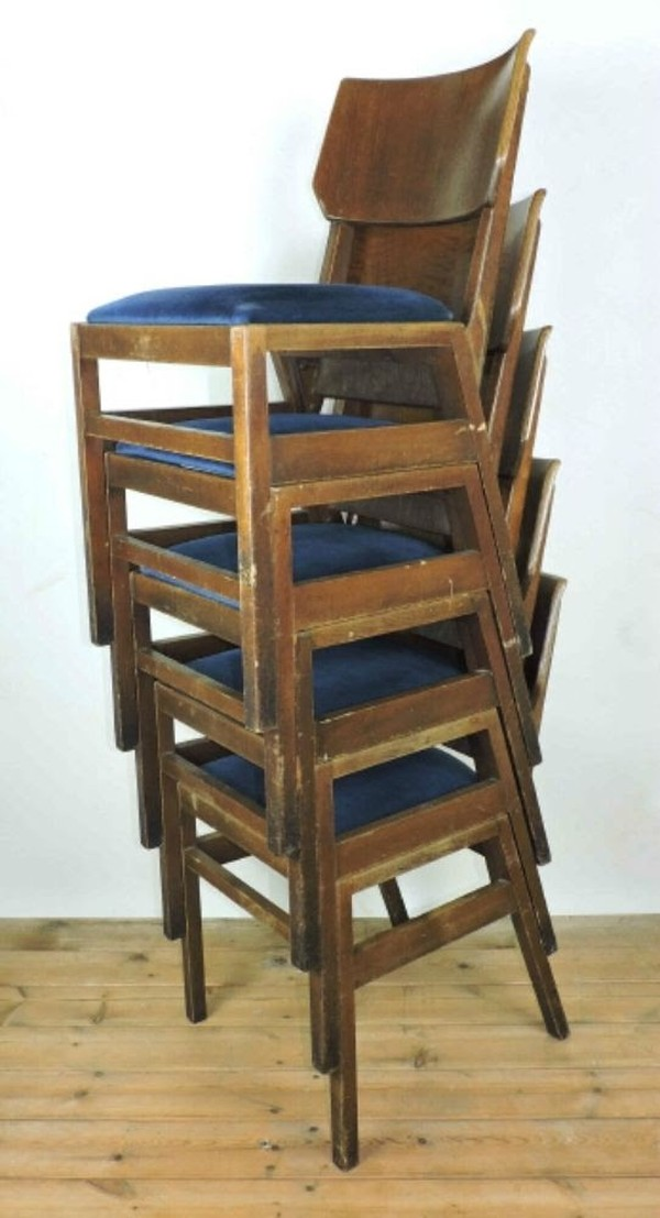 Stacked Ben chairs