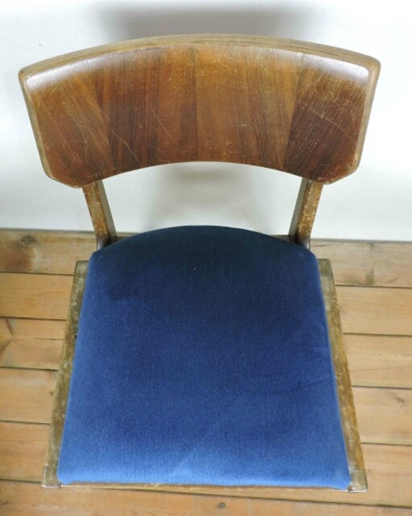 Vintage Ben Chairs with upholstered seat pad