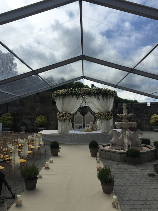 5 15m Clear PVC Marquee Roofs