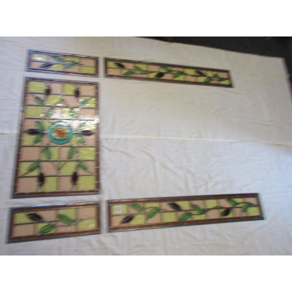 Victorian Repro Stained Glass Door