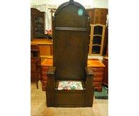 Dark Solid Oak Edwardian Antique Hall Stand or Coat Hat Rack